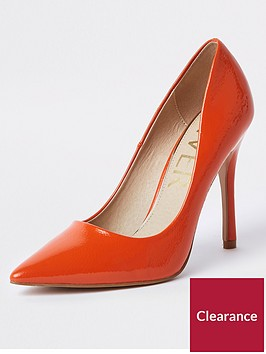 river-island-patent-stiletto-court-shoe-dark-orange