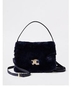 river-island-river-island-faux-fur-cross-body-bag-navy