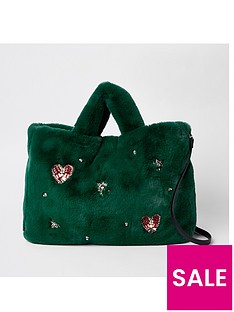 river-island-river-island-gem-faux-fur-shopper-bag-green