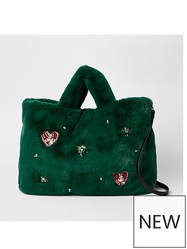 river-island-river-island-gem-faux-fur-shopper-bag-green
