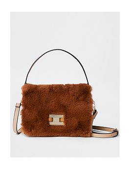 river-island-river-island-faux-fur-cross-body-bag-tan