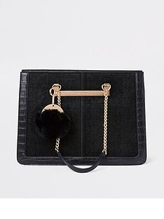 river-island-croc-chain-handle-tote-bag-black