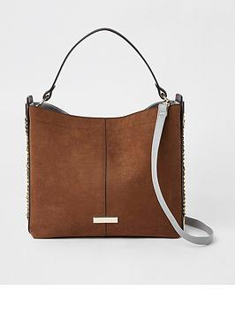 river-island-chain-side-slouch-bag-tan