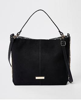 river-island-chain-side-slouch-bag-black