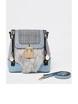 river-island-fluffy-mini-backpack-blue