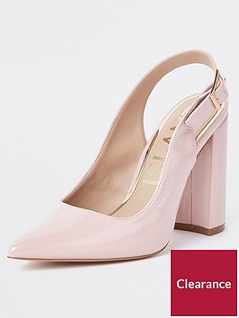 river-island-block-heel-sling-back-court-shoe-nude