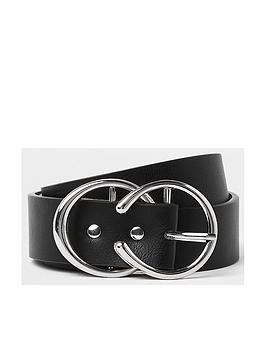 river-island-river-island-silver-double-ring-belt-black