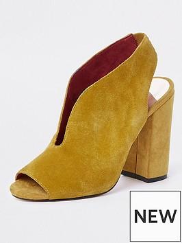 river-island-peep-toe-suede-sandal-yellow