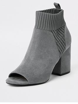 river-island-sock-shoe-boot-grey