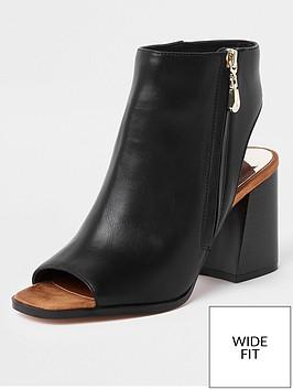 river-island-river-island-wide-fit-block-heel-shoe-boot-black