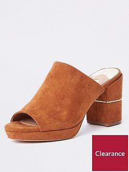 river-island-platform-block-heel-mule-tan