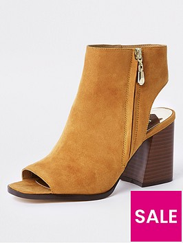 river-island-wide-fit-block-heel-shoe-boot-mustard