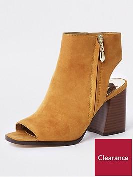 river-island-wide-fit-block-heel-shoe-boot-mustard