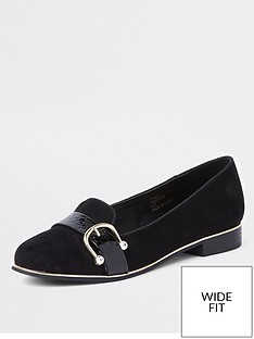 river-island-wide-fit-front-detail-loafer-black