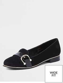 river-island-wide-fit-front-detail-loafer-black