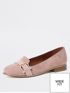 river-island-wide-fit-front-detail-loafer-mink