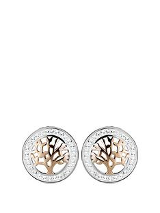 the-love-silver-collection-rose-gold-sterling-silver-two-tone-swarovski-crystal-tree-of-life-stud-earrings
