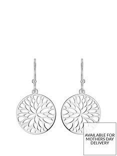 the-love-silver-collection-sterling-silver-cut-out-flower-disc-drop-earrings