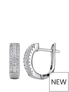 the-love-silver-collection-sterling-silver-cubic-zirconia-15mm-hoop-earrings