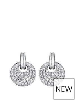 the-love-silver-collection-sterling-silver-cubic-zirconia-round-cluster-earrings