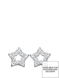 the-love-silver-collection-sterling-silver-cubic-zirconia-star-stud-earrings