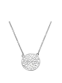 the-love-silver-collection-sterling-silver-cut-out-flower-disc-pendant-necklace