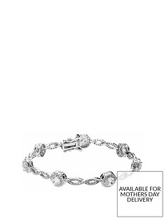 the-love-silver-collection-sterling-silver-cubic-zirconia-halo-link-bracelet