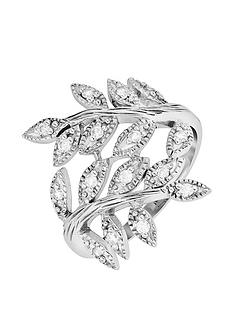 the-love-silver-collection-sterling-silver-cubic-zirconia-olive-leaf-ring