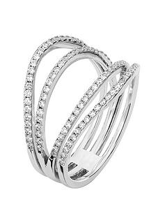 the-love-silver-collection-sterling-silver-white-cubic-zirconia-multirow-ring