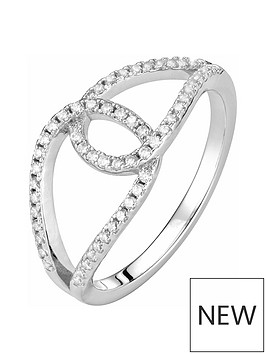 the-love-silver-collection-sterling-silver-white-cubic-zirconia-looped-crossover-ring