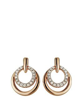 love-gold-rose-gold-plated-sterling-silver-amp-cubic-zirconia-double-circle-stud-earrings