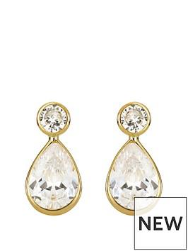 love-gold-9ct-gold-cubic-zirconia-teardrop-stud-earrings