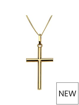 love-gold-9ct-gold-cross-pendant-necklace