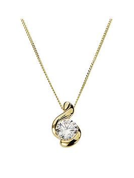 love-gold-9ct-gold-cubic-zirconia-swirl-pendant-necklace