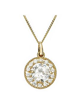 love-gold-9ct-gold-cubic-zirconia-halo-round-pendant-necklace