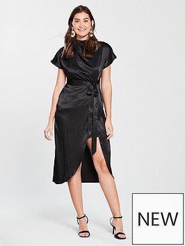 river-island-river-island-split-hem-midi-dress-black