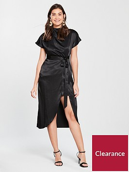 river-island-river-island-split-hem-midi-dress-black