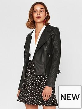 oasis-faux-leather-stitch-biker-jacket