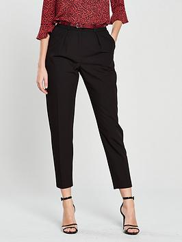 oasis-belted-peg-leg-trouser