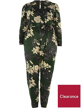 ri-plus-printed-tapered-jumpsuit-green