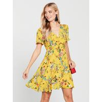 ab456fe418da Shoptagr   Fitzwilliam Ruched Front Tea Dress Yellow by Oasis