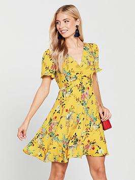 oasis-fitzwilliam-ruched-front-tea-dress