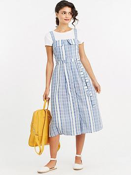 oasis-stripe-button-front-midi-dress