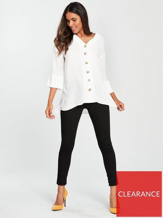c7acb83e6 ... River Island Button Front Blouse - White. View larger