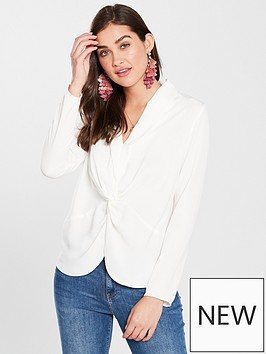river-island-twist-front-blouse-ivory