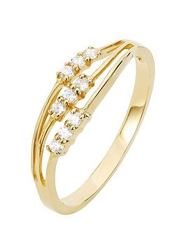 love-gold-9ct-gold-3-row-cubic-zirconia-wave-ring