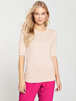oasis-pointelle-frill-jumper-natural
