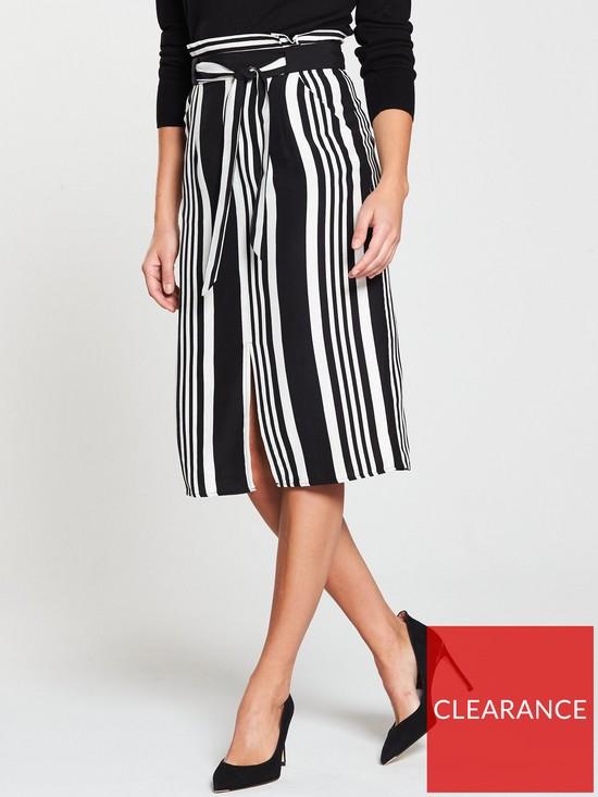 8b54863c78f1 Oasis Stripe Midi Pencil Skirt - Monochrome | very.co.uk