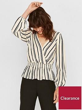 oasis-stripe-wrap-smocked-blouse