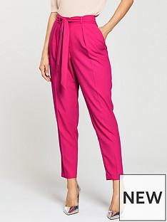 oasis-crepe-peg-leg-trouser-pink